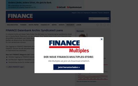 FINANCE-Datenbank Archiv: Loans-FINANCE Magazin