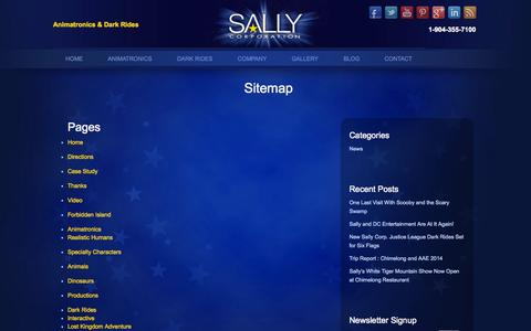 Screenshot of Site Map Page sallycorp.com - Sitemap | Sally Corporation - captured Oct. 4, 2014