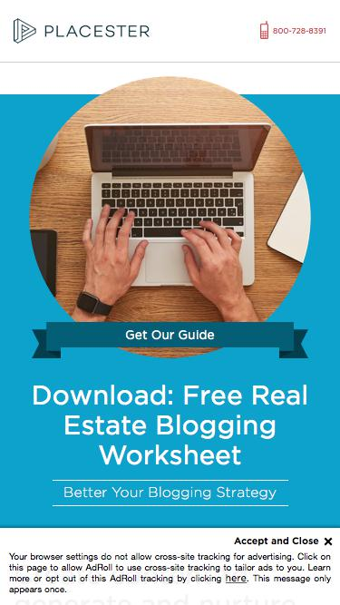 Free Real Estate Blogging Worksheet - Placester