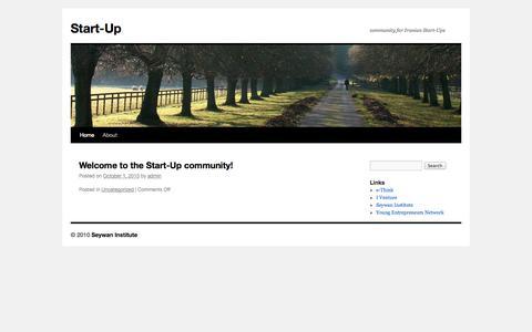 Screenshot of Home Page start-up.ir - Start-Up   community for Iranian Start-Ups - captured Oct. 8, 2014