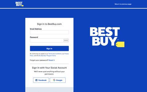 Screenshot of Login Page bestbuy.com - Sign In to BestBuy.com - captured Sept. 27, 2018