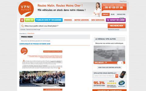 Screenshot of Press Page vpn-autos.fr captured Nov. 29, 2018