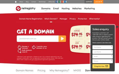 Screenshot of FAQ Page netregistry.com.au - Australian Domain Name Registration   Domain Names FAQ - captured June 15, 2017