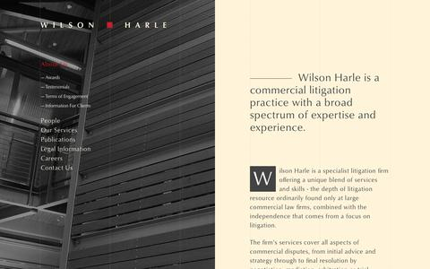 Screenshot of About Page wilsonharle.com - Wilson Harle - About Us - captured Sept. 20, 2018