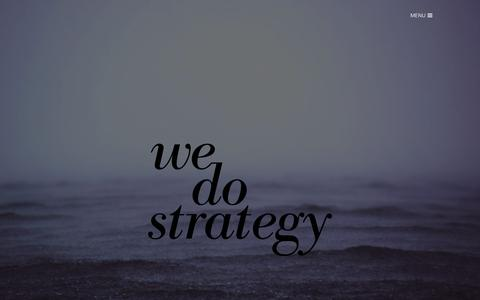 Screenshot of Home Page wedostrategy.com - WE DO STRATEGY - Strategy consulting - captured Jan. 12, 2016