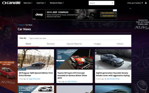 Screenshot of Press Page carwale.com - Car News, Auto News India - CarWale - captured March 6, 2019