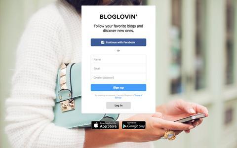 Screenshot of Signup Page bloglovin.com - Bloglovin' - captured Sept. 30, 2015
