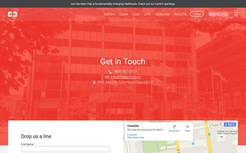 Screenshot of Contact Page crosschx.com - Contact CrossChx | CrossChx - captured Dec. 4, 2015