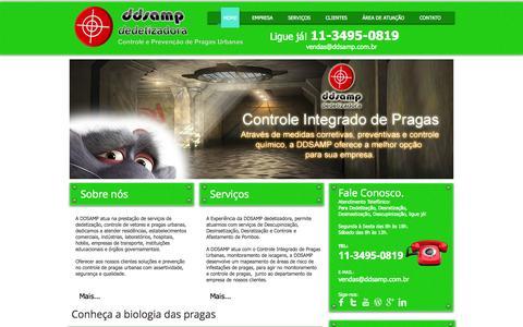 Screenshot of Home Page ddsamp.com.br - DDSAMP Dedetizadora Controle de Pragas Urbanas, Dedetização - captured Oct. 5, 2014
