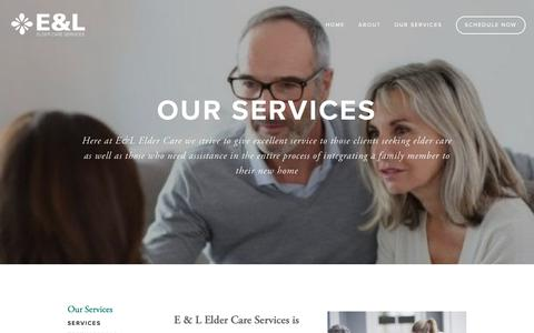 Screenshot of Services Page eandleldercareservices.com - Services — E&L Elder Care Services - Contra Costa, Solano, Alameda County - captured Dec. 19, 2018