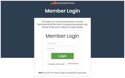 Screenshot of Login Page presentation-process.com - Member Login - captured Nov. 17, 2018