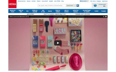 Screenshot of Home Page hema.nl - HEMA - verrassend lage prijzen in de online winkel - captured Sept. 18, 2014