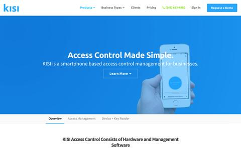 Screenshot of Products Page getkisi.com - Access Control Management System — KISI - captured March 9, 2016