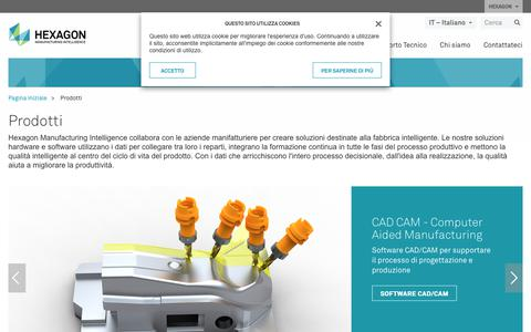 Screenshot of Products Page hexagonmi.com - Prodotti | Hexagon Manufacturing Intelligence - captured Nov. 25, 2017