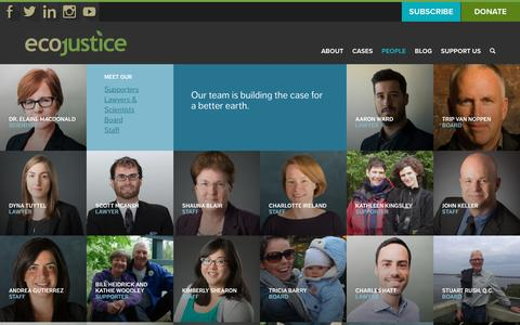 Screenshot of Team Page ecojustice.ca - People - Ecojustice - captured Oct. 23, 2016