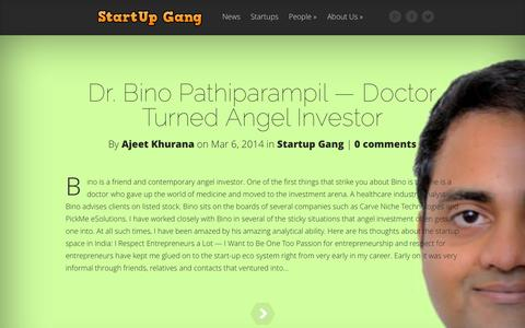Screenshot of Home Page startupgang.com - Startup Gang | For Startups, Entrepreneurs, Investors, and Aspirants - captured Oct. 7, 2014