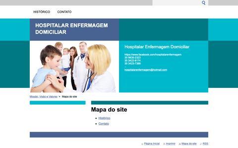 Screenshot of Site Map Page webnode.com - Mapa do site :: Hospitalar Enfermagem Domiciliar - captured Sept. 29, 2018