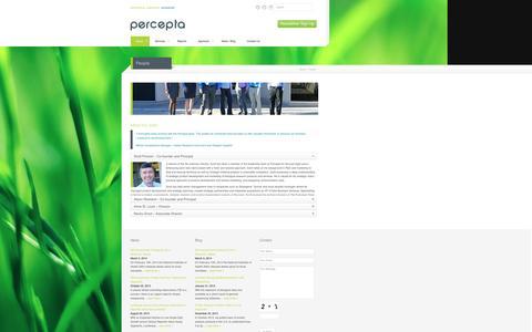 Screenshot of Team Page perceptaassociates.com - People | Percepta Associates Inc - captured Sept. 29, 2014