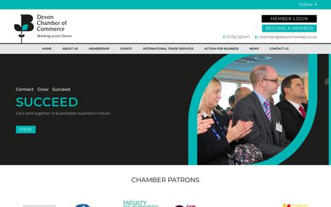 Screenshot of Home Page devonchamber.co.uk - Home Page - Devon Chamber of Commerce - captured July 4, 2018