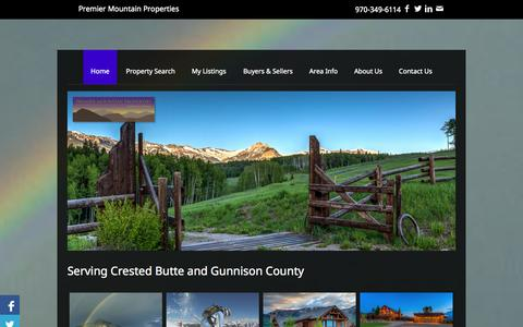 Screenshot of Home Page premier-mountain-properties.com - Premier Mountain Properties   Crested Butte Real Estate - captured Sept. 30, 2014