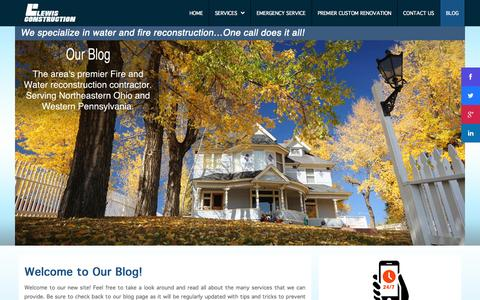 Screenshot of Blog lewisconstruction.com - Blog - captured Sept. 30, 2014