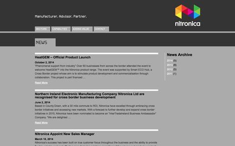 Screenshot of Press Page nitronica.com - News | Nitronica - captured Oct. 10, 2014