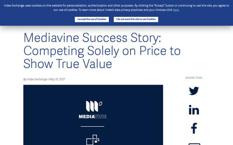 Screenshot of Case Studies Page indexexchange.com - Mediavine Success Story: Competing Solely on Price to Show True Value - Index Exchange - captured Nov. 16, 2018