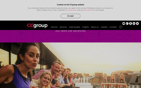 Screenshot of Jobs Page ccgrouppr.com - Careers - CCgroup - captured Sept. 25, 2018