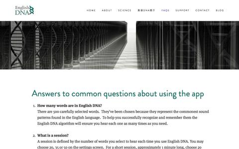Screenshot of FAQ Page english-dna.com - FAQs — English DNA - captured July 14, 2016