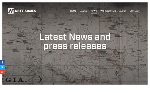 Screenshot of Press Page nextgames.com - Next Games - captured Dec. 4, 2015