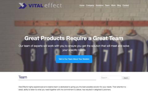 Screenshot of Team Page vitaleffect.com - Vital Effect » Team | Alberta Web Design and Online Solutions - captured Feb. 28, 2016