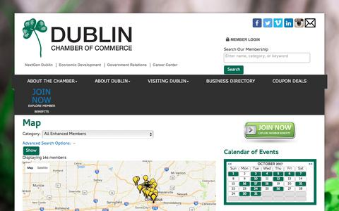 Screenshot of Maps & Directions Page dublinchamber.org - Map - Dublin Chamber of Commerce, OH - captured Oct. 13, 2017