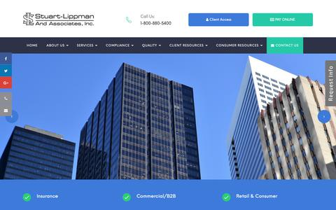 Screenshot of Home Page stuartlippman.com - Collection Agency, Commercial Debt Recovery and Consumer Debt Collection Recovery Agency Arizona, California and New Mexico - captured Oct. 21, 2018