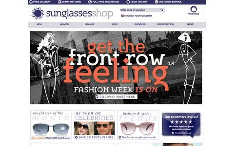 Screenshot of Home Page sunglassesshop.com - Sunglasses Shop : Designer Sunglasses : Including Ray-Ban Sunglasses - captured Oct. 26, 2015