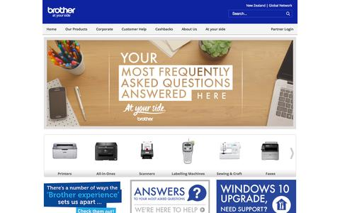 Screenshot of Products Page brother.co.nz - Brother at your side - captured Oct. 15, 2015