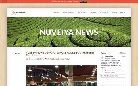 Screenshot of Press Page nuveiya.com - The Latest News for Pure Immune by Nuveiya | Nuveiya - captured Oct. 6, 2014