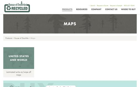 Screenshot of Maps & Directions Page houseofdoolittle.com - Maps | House of Doolittle - captured May 23, 2017
