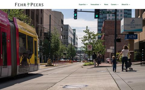 Screenshot of Home Page fehrandpeers.com - Fehr & Peers Transportation Consultants - captured Feb. 9, 2016