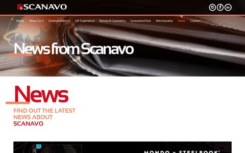 Screenshot of Press Page scanavo.com - Scanavo - Latest News and Updates - captured Nov. 19, 2016