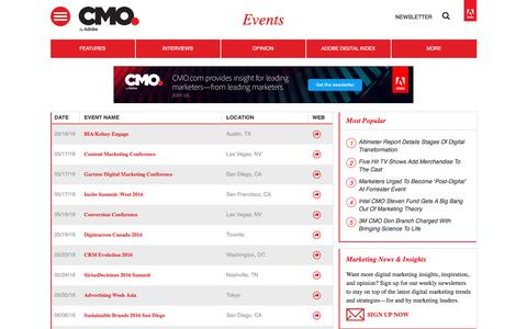 Digital marketing conferences and events | CMO.com - Adobe