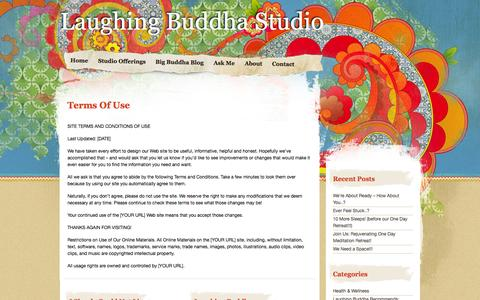 Screenshot of Terms Page laughing-buddha-studio.com - » Terms Of Use Laughing Buddha Studio - captured Sept. 29, 2014