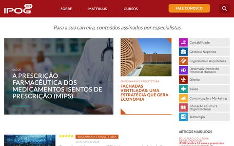 Screenshot of Blog ipog.edu.br - O portal do IPOG com os melhores conteúdos para a sua carreira - captured July 27, 2018