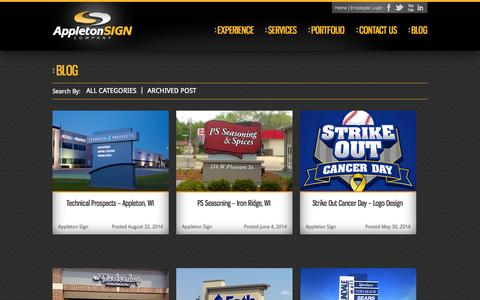 Screenshot of Blog appletonsign.com - Blog | Appleton SIGN - captured Oct. 4, 2014