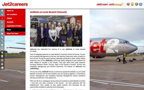 Screenshot of Press Page jet2careers.com - News - captured Feb. 14, 2020