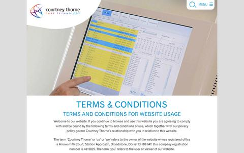 Screenshot of Terms Page nursecallsystems.co.uk - Terms & Conditions   Courtney Thorne nurse call systems - captured Nov. 11, 2018
