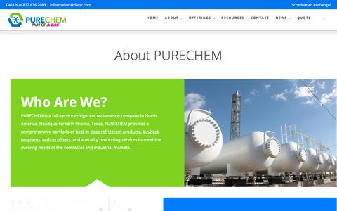 Screenshot of About Page divpc.com - About The Nation's Leading Refrigerant Buyback Experts | PURECHEM - captured Oct. 9, 2018