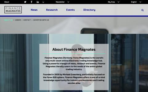 Screenshot of About Page financemagnates.com - About Finance Magnates | Finance Magnates - captured March 9, 2016