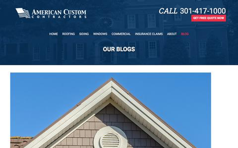 Screenshot of Blog americancustomcontractors.com - Blog - American Custom Contractors - captured July 29, 2018