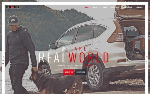 Screenshot of Home Page realworldinc.com - Real World Marketing – different. - captured July 24, 2016