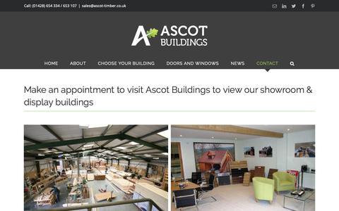 Screenshot of Contact Page ascot-timber.co.uk - Contact - Ascot Timber Buildings - captured Oct. 4, 2018